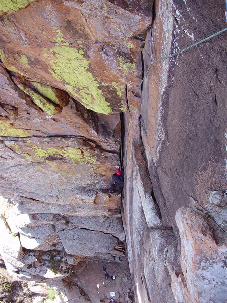 "Rock Climbing Photo: Climbing ""The Dihedral,"" Wichita Wildlif..."