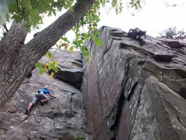Rock Climbing Photo: Climbing Wisconsin side at Interstate Park.