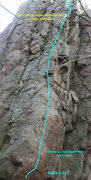 Rock Climbing Photo: Aloha 5.12 route beta
