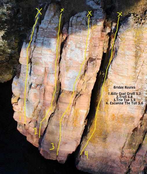 Rock Climbing Photo: Bridge Routes