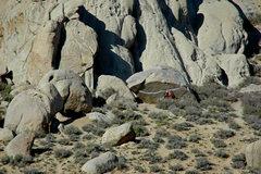 Rock Climbing Photo: Unknown climber on 'Iron Man Traverse' 3/29/10