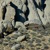 Unknown climber on 'Iron Man Traverse'<br> 3/29/10