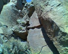 Rock Climbing Photo: Roof isn't bad at all, and protects.  Prince Humpe...