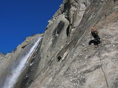Rock Climbing Photo: Lost Arrow Spire Direct