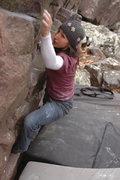 Rock Climbing Photo: Katie on the traverse