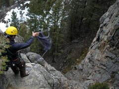 "Rock Climbing Photo: Throwing the ""ROPE!"""