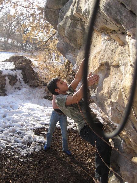 Rock Climbing Photo: The ever-convenient Vegan Boulder