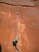 Rock Climbing Photo: Jennilyn making the start of Coyne Crack look so e...