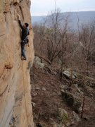 Rock Climbing Photo: Rhoads with a great view!