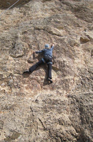 Rock Climbing Photo: Cruising the fun face.