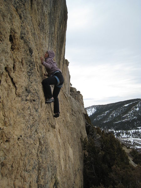 Rock Climbing Photo: Among the best 5.10s at Sinks.  Super technical re...