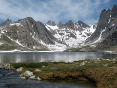 Rock Climbing Photo: Looking across titcomb lake