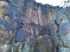 Rock Climbing Photo: Right Aaaarm!!! is the crack over the boulders.