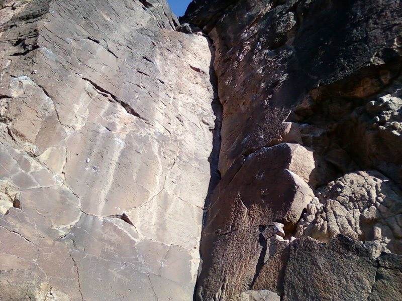 Rock Climbing Photo: Petrophyte goes right up the dihedral.  Fun route.