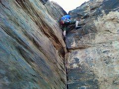 Rock Climbing Photo: Me (Jared) on Lincolns' Lament...FA?