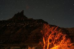 Rock Climbing Photo: North Six Shooter nocturnal