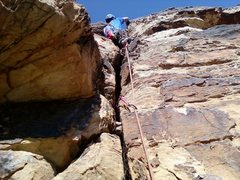 Rock Climbing Photo: Me, Jared, Placing the last piece (#3 cam) on Wash...