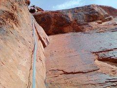 Rock Climbing Photo: Joseph Meeks rock chiseling skills were pretty goo...