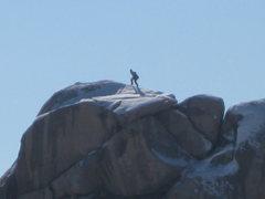 Rock Climbing Photo: Santa Claus?