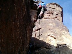 Rock Climbing Photo: Me, Jared on Presidential Warfare...Notice the opp...