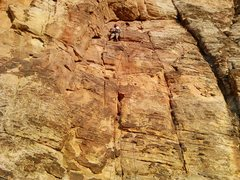Rock Climbing Photo: Richard top roping Non-Technical Church Socks