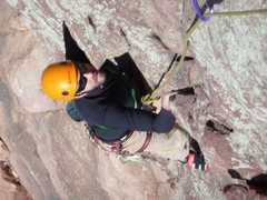 Rock Climbing Photo: About to top out on the Bomb! Photo by Walter Leak...