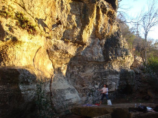 Rock Climbing Photo: nice day at the crag