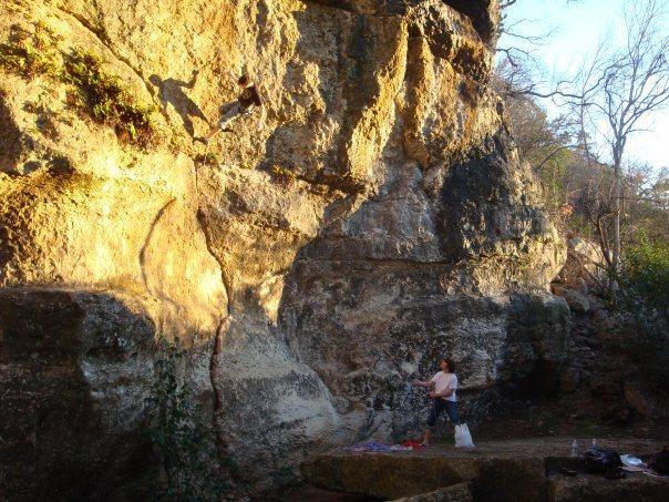 Rock Climbing Photo: nice day at the crag