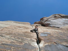 Rock Climbing Photo: Heading up another unknown 5.9