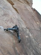 Rock Climbing Photo: Kevin techin' out Knapping with the Alien
