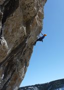 Rock Climbing Photo: The arete has two distinct cruxes, in addition to ...