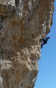 Rock Climbing Photo: The second arete crux is a pumpy & commiting seque...