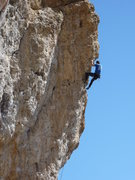 Rock Climbing Photo: Insanely pumped, 15 feet to go.  Fortunately the r...