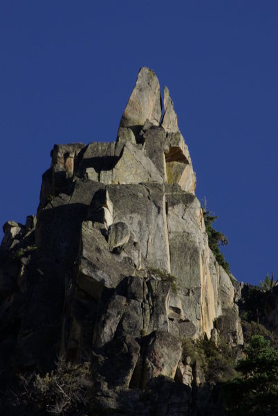 The spectacular rock formation The Steeple AKA The Aguille de Dread