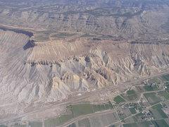 Rock Climbing Photo: Arial view of Mt Garfield. Photo Carol Crockett.