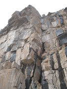 Rock Climbing Photo: The roof line just left of the arete is October Sk...