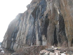 Rock Climbing Photo: Left end of the Sanctuary (not always this wet I a...