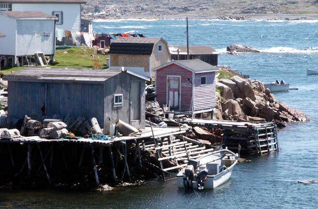 Typical Newfoundland fishing village