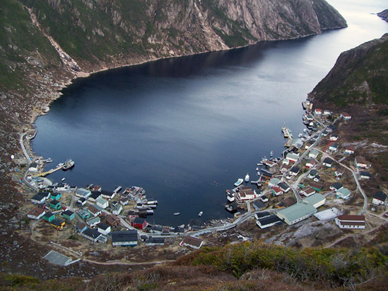 Rock Climbing Photo: Looking down onto the town from the cliff above it...