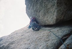 Rock Climbing Photo: Transition from smearing/face to underclings