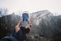Rock Climbing Photo: This FA was brought to you by the letters NST and ...