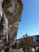 Rock Climbing Photo: Pumping up the stellar arete.