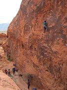 Rock Climbing Photo: Jen on Roto Hammer 5.10c