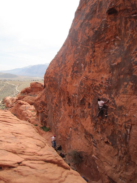 Rock Climbing Photo: Me on the first crux of Roto Hammer 5.10c I believ...