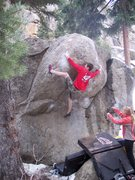 Rock Climbing Photo: Ben C. working the top section.