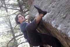 Rock Climbing Photo: Pressss!