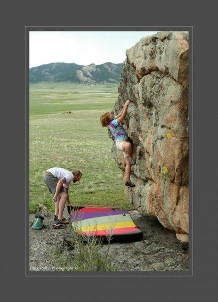 Rock Climbing Photo: School of Elk, Climber- Dani Teeters, Spotter- Cor...
