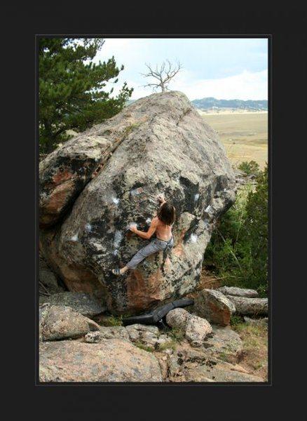 Rock Climbing Photo: Manic Hysteria, BoxerFace Boulder