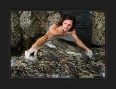 Rock Climbing Photo: Technical, Mantel topout!