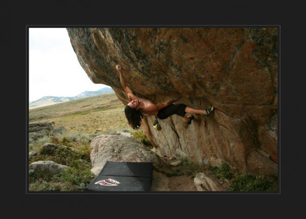 Rock Climbing Photo: Its one hella' huge throw when you are almost full...